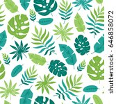 seamless pattern with tropical... | Shutterstock .eps vector #646858072