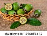 feijoa fruit | Shutterstock . vector #646858642