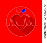 healthy heart vector... | Shutterstock .eps vector #646861072