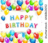 greeting card with lettering... | Shutterstock . vector #646863052