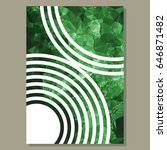 abstract layout  for cover or... | Shutterstock .eps vector #646871482