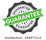 guarantee stamp over a white... | Shutterstock .eps vector #646872112