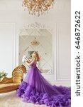 girl in violet dress   Shutterstock . vector #646872622