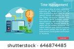 time management conceptual... | Shutterstock .eps vector #646874485