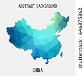 china map in geometric... | Shutterstock .eps vector #646875862