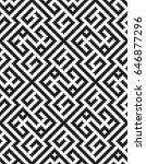 mosaic seamless pattern. modern ... | Shutterstock .eps vector #646877296