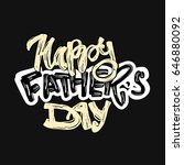 fathers day concept hand... | Shutterstock .eps vector #646880092