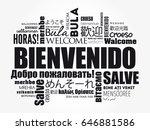bienvenido  welcome in spanish  ...   Shutterstock .eps vector #646881586