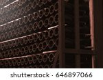 wine cellar interior and some... | Shutterstock . vector #646897066