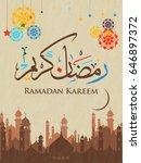 illustration of ramadan kareem... | Shutterstock .eps vector #646897372
