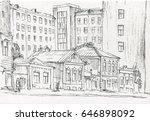 old town street   Shutterstock . vector #646898092