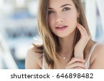 beautiful woman | Shutterstock . vector #646898482
