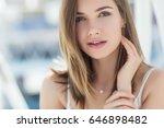beautiful woman | Shutterstock . vector #646898482