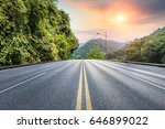 asphalt road in the mountains... | Shutterstock . vector #646899022