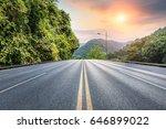 asphalt road in the mountains... | Shutterstock . vector #646899022