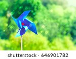 blue paper weathercock on... | Shutterstock . vector #646901782