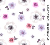 seamless pattern with anemones... | Shutterstock .eps vector #646902496