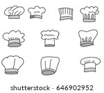 hand drawn hat chef isolate... | Shutterstock .eps vector #646902952