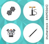 flat service set of belt  wheel ... | Shutterstock .eps vector #646903642