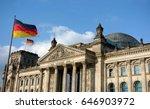 german flag waving at bundestag ...   Shutterstock . vector #646903972