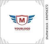 m letter brand identity. falcon ... | Shutterstock .eps vector #646906372