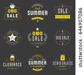 summer season sale badges and... | Shutterstock .eps vector #646907086