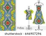 vector fashion illustration.... | Shutterstock .eps vector #646907296