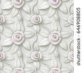 3d flowers  seamless | Shutterstock . vector #646908805