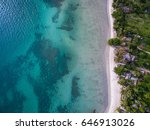 Aerial View Of Blue Sea And...