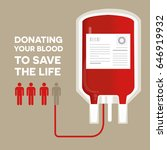 blood donation concept with bag ... | Shutterstock .eps vector #646919932
