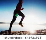 silhouette of active athlete... | Shutterstock . vector #646921915