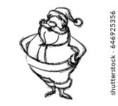 sketch style santa claus. funny ... | Shutterstock .eps vector #646925356