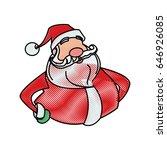 drawing santa claus christmas... | Shutterstock .eps vector #646926085