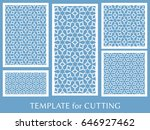decorative panels set for laser ... | Shutterstock .eps vector #646927462