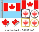 flag set canada | Shutterstock .eps vector #64692766