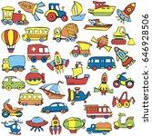 set of transport for children....   Shutterstock .eps vector #646928506