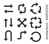 arrow icons | Shutterstock .eps vector #646929142