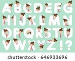 set of various poses of ballet... | Shutterstock .eps vector #646933696
