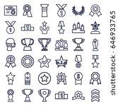 award icons set. set of 36... | Shutterstock .eps vector #646933765