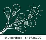 concept light bulb design white ... | Shutterstock .eps vector #646936102