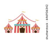 circus tent tops. red and white ... | Shutterstock .eps vector #646936342