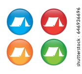 tourist tent. single icon.... | Shutterstock .eps vector #646936696