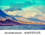 arctic wilderness   mountain... | Shutterstock . vector #646939105