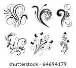 set of floral design elements.... | Shutterstock .eps vector #64694179