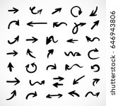 hand drawn arrows  vector set   Shutterstock .eps vector #646943806
