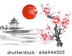 japan traditional japanese... | Shutterstock . vector #646944505