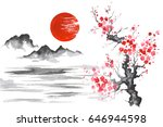 japan traditional japanese... | Shutterstock . vector #646944598