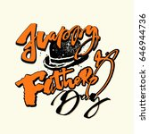 fathers day concept hand... | Shutterstock . vector #646944736