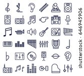 sound icons set. set of 36... | Shutterstock .eps vector #646945906