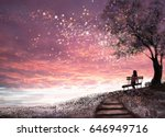 fantasy illustration with... | Shutterstock . vector #646949716